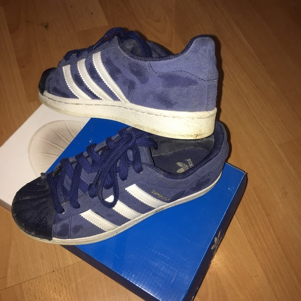 Used Blue suede Adidas superstars for sale in Romford - letgo b8ce6803b52e