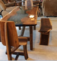 brown wooden dining table set Chambersburg