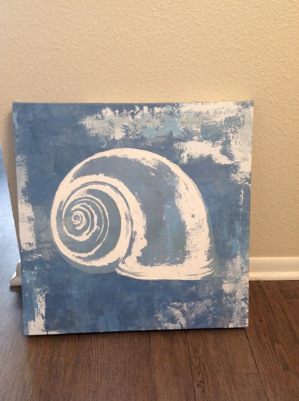 white snail painting