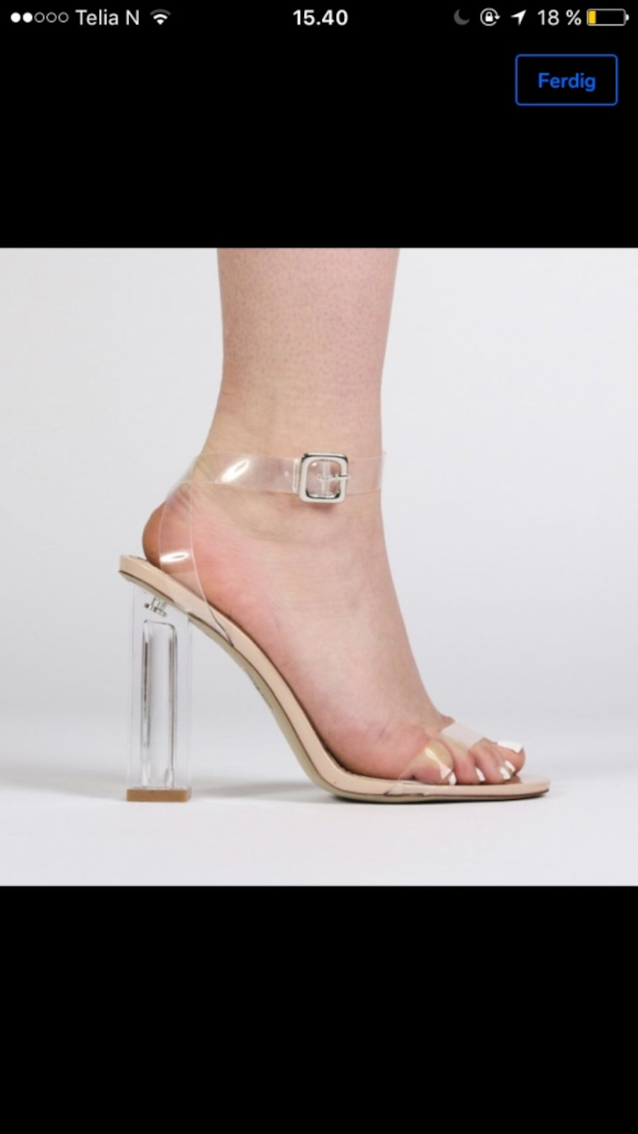 Clear block heels  - Norge
