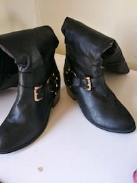 pair of black leather boots Portales, 88130