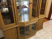 Solid wood very heavy, china cabinet mirrored back Vaughan, L6A 0H4