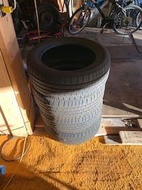 Summer tires used one summer still like brand new size is 205–55-16 all season Montréal
