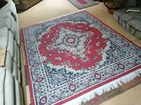 red and white floral area rug Albuquerque, 87121