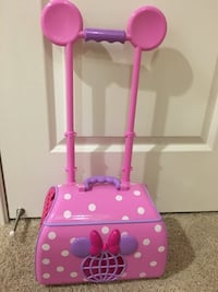 pink and purple Minnie Mouse plastic toy