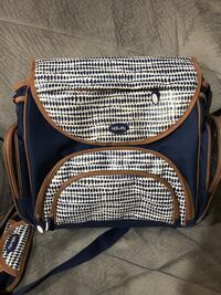 Black and blue leather diaper bag Whitby, L1N