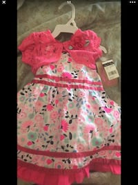 toddler's pink and white floral dress Caruthers, 93609