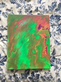 Mixed colour abstract painting Toronto, M8V 3Y7