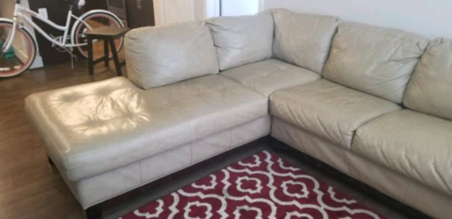 MUST GO!! Leather Sectional/ Ottoman. Make Offer 3