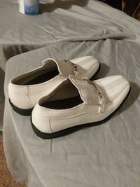 pair of white leather shoes Laurinburg, 28352