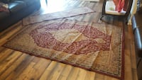 brown and red floral area rug Township of Taylorsville, 28681