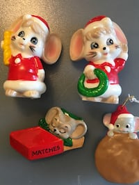 Mouse Xmas ornaments assortment San Diego, 92114