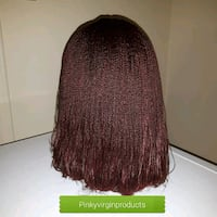 Bob braided wig color BURGUNDY available  Fort McMurray, T9H 4K1