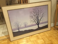 brown wooden framed painting of three leafless trees Montréal, H8Y 3J5