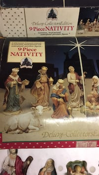 9 piece NATIVITY  porcelain in great shape Fall River, 02720