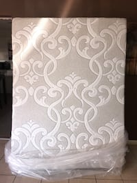 White and gray floral mattress Oklahoma City, 73107