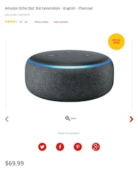 Amazon Echo Dot 3rd Generation   Vaughan, L4L 5C5