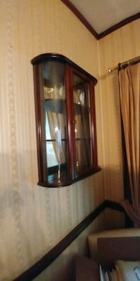 Decorative solid wood cabinet for wall Leonia