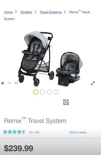 Remix Baby's travel system. Brand new with box. Never used. Great deal. Multi-position reclining for baby Portage, 49024