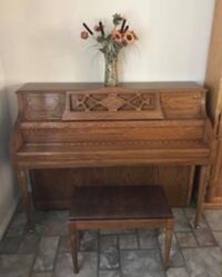 PRICE REDUCED AGAIN! Kohler and Campbell Upright Piano and Bench