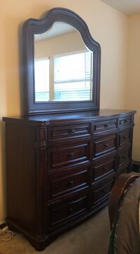 brown wooden dresser with mirror Germantown, 20874