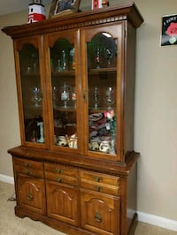 Antique buffet and table set