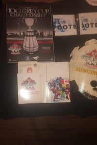 100th Grey cup collectable ticket and 100th grey cup program