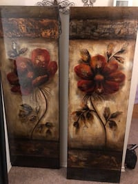brown wooden framed painting of flowers College Station, 77845