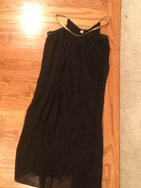 Used Black And Gold Grecian Dress For Sale In Somers Point Letgo
