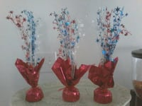 4th of July table decorations.  Bakersfield, 93306