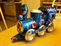 blue and gray Pepsi-Cola train toy 69 km