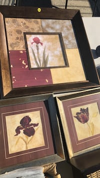 two brown wooden framed painting of flowers New York, 10465