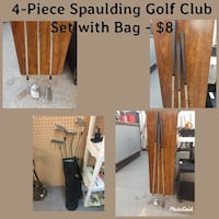 4-Piece Spaulding Golf Set with Bag - Texas