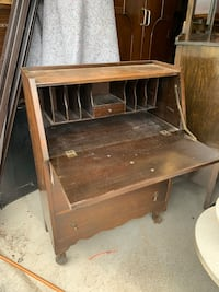 Antique Secretary Desk With Drawers