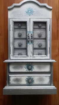 Musical Armoire-Style Jewelry Display Chest Brampton