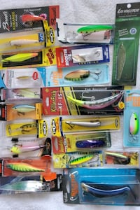 Lots of fishing lures,rapala,e-lure,brads,little cleo,livinston etc