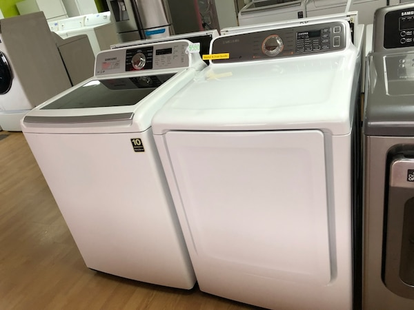 Samsung white washer and dryer set