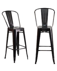 two black metal bar stools Baltimore, 21206