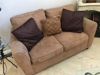 brown fabric 2-seat sofa San Jose, 95148