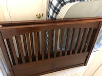 baby's brown wooden crib Fairfax, 22030