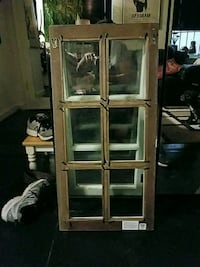 Back of white wooden 6 picture frame window New York, 10003