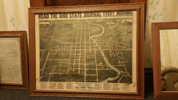 Ashley Ohio Map.Used Map Delaware Ohio 1890 Ohio State Journal For Sale In Ashley