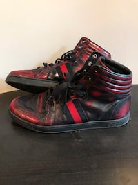 pair of black-and-red high top sneakers Vaughan, L4J