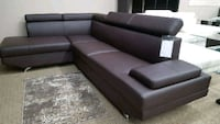 tufted black leather sectional sofa Surrey, V3W 4M9