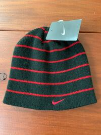 Black Nike Beanie with Red Stripes