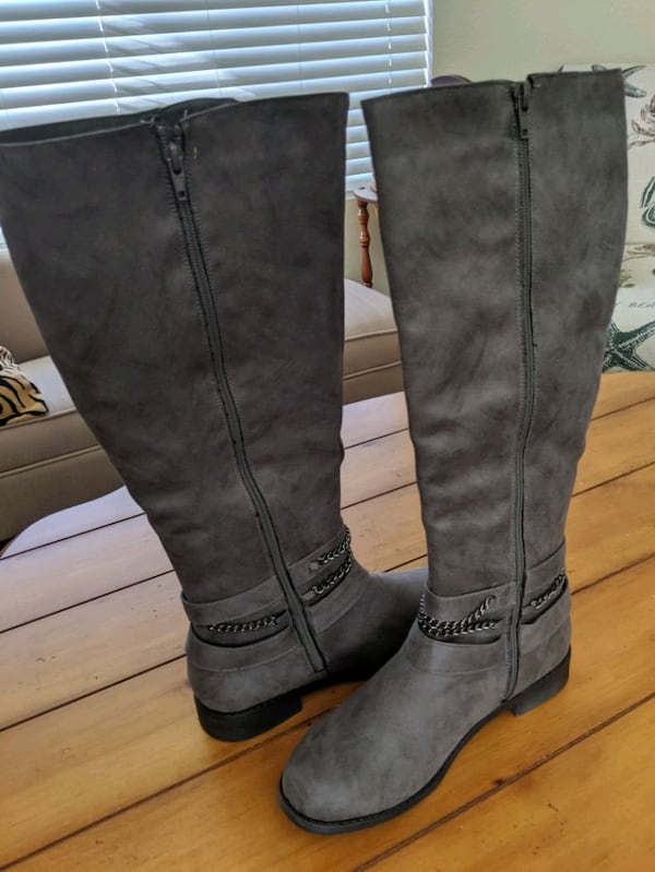 Sold Gray Boots Size 10 In Simi Valley Letgo