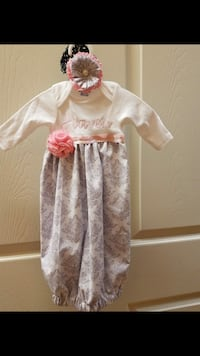 Any name!! Homemade baby gown!!