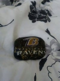 Hand crafted Baltimore Ravens ornament
