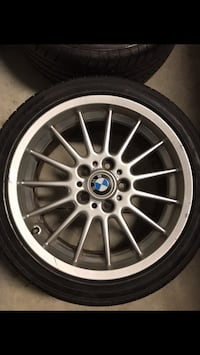 E36 Fit (Z3) Style 32s (2 need refinishing) with continentals Tampa, 33617