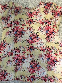 Yellow, red,and blue floral blouse Toronto, M6A 1M9
